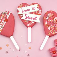 Vanilla Fudge Heart Popsicle valentines Lolly