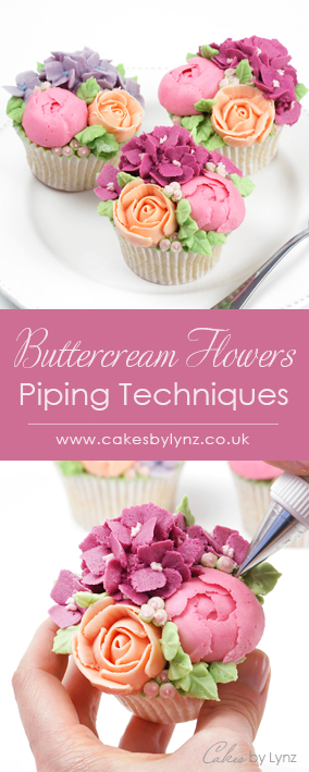 how to pipe buttercream flower cupcakes piping techniques