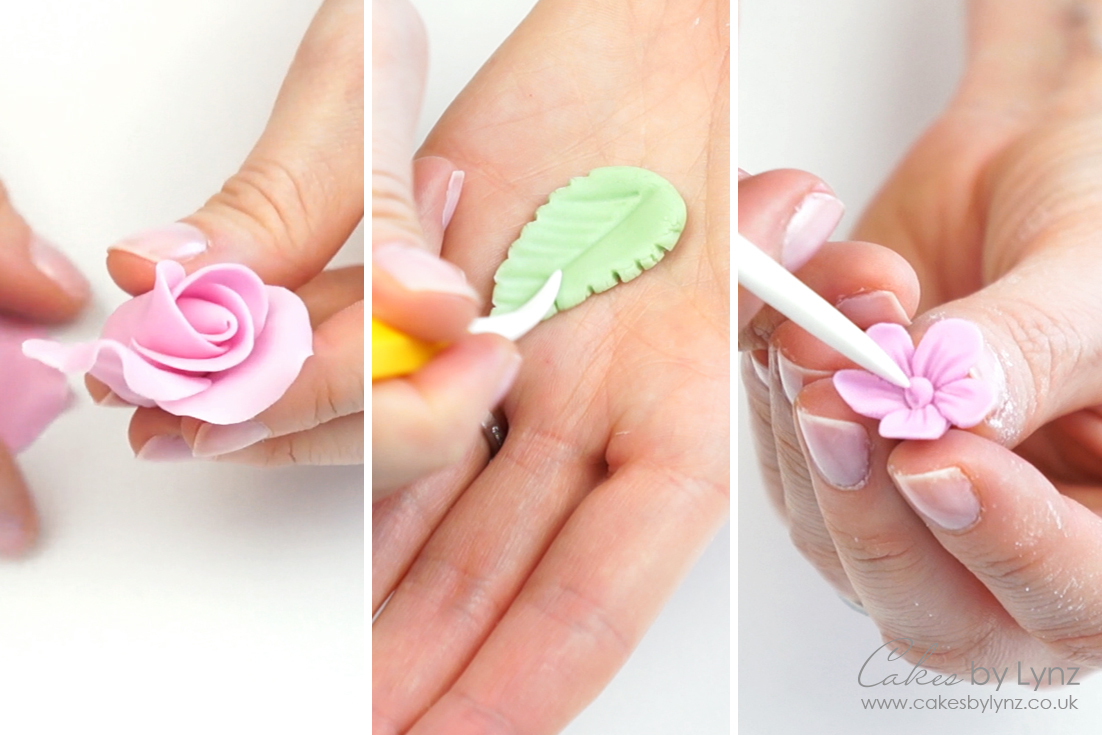 how to make basic fondant flowers for cupcakes