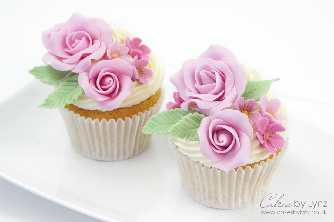 fondant rose flower cupcake tutorial for mothers day