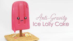 anti gravity ice lolly popsicle cake