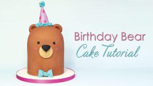 Birthday Bear cake tutorial
