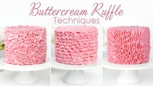 how to pipe buttercream ruffles on your cakes tutorial