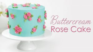 Buttercream Rose Cake Tutorial