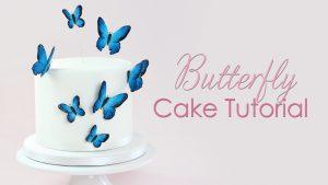 gumpaste butterfly cake tutorial