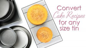 converting cake recipes for any size cake tin