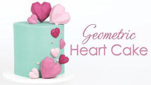 How to make geometric cake heart cake tutorial