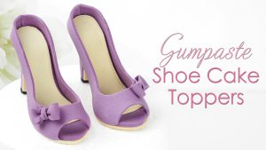 Gumpaste shoe cake topper tutorial
