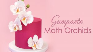 How to make a gumpaste sugar moth orchid for your cakes