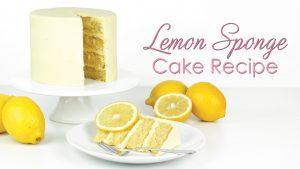 Lemon Sponge cake recipe - with lemon drizzle