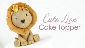 Lion king cake topper tutorial