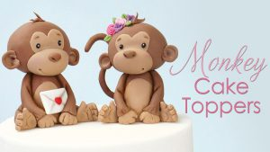 How to make cute monkey cake toppers