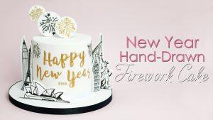 New Year Firework Cake