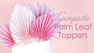 sugar palm leave cake toppers tutorial