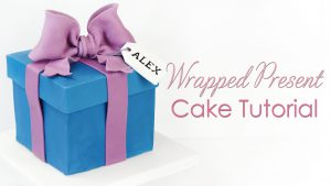 How to make a present gift cake tutorial