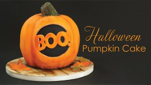 Halloween Pumpkin Cake Tutorial