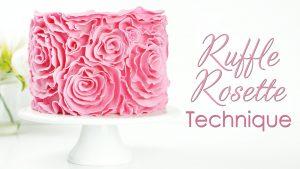 Ruffle Rose Rosette Cake Tutorial