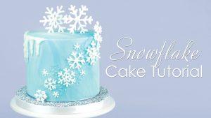 Frozen Snowflake Cake Tutorial