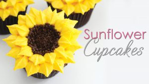 How to pipe sunflower cupcakes