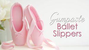 Gumpaste ballerina slippers tutorial