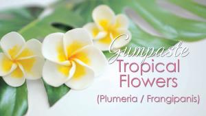 Gumpaste Tropical Flower - Plumeria