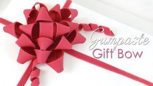 Gumpaste gift present bow tutorial