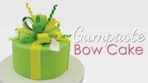 bow cake tutorial