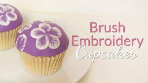 Brush Embroidery Cupcake