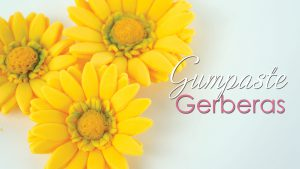 gerberas cake topper tutorial