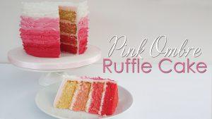 Ombre Ruffle Cake Tutorial
