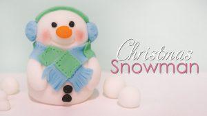 Christmas snowman cake topper