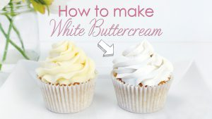 How to make your buttercream frosting white