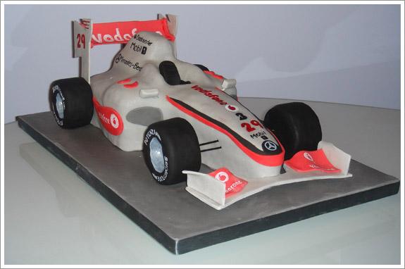 F1 Car Birthday Cake