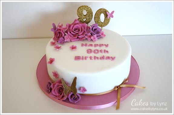 90th birthday cake birthday cakes cakes by lynz 1192