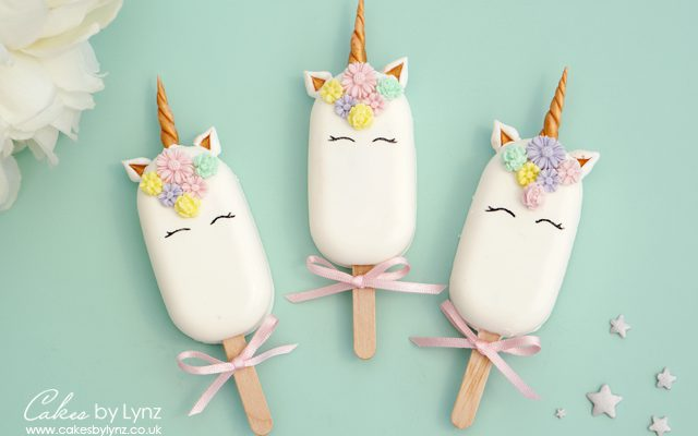 unicorn cakesicles