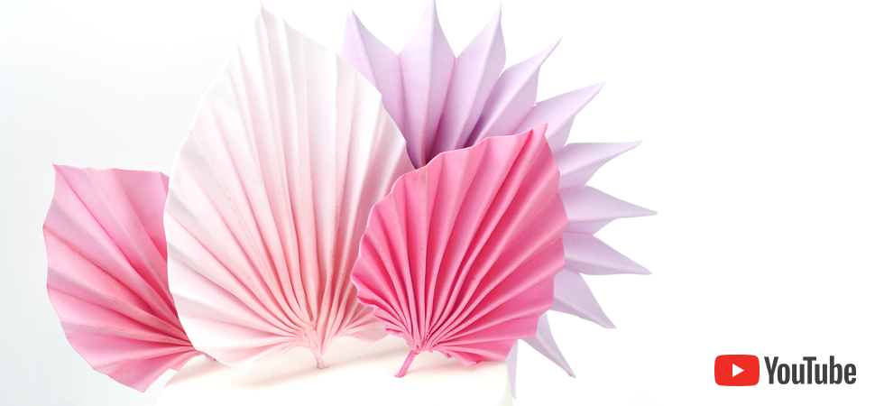 how to create palm leaf sails for your cakes