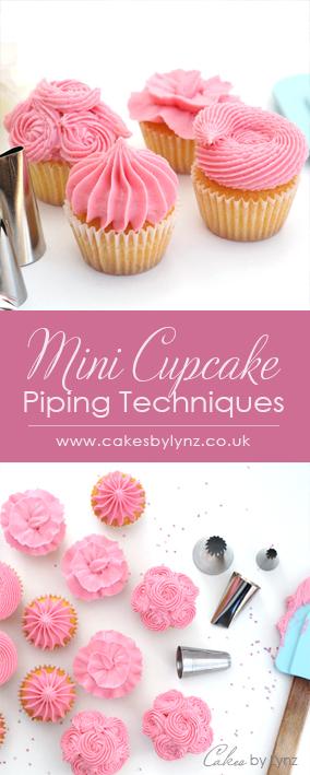 mini cupcakes Piping techniques 5