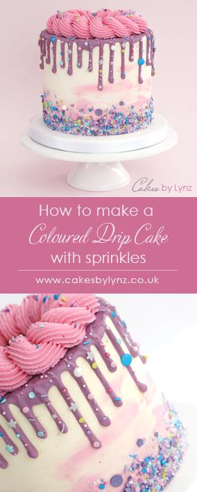 sprinkles Drip Cake tutorial