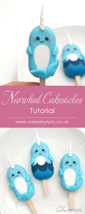 Narwhal cakesicles tutorial