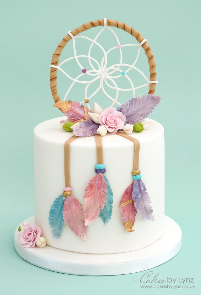 Dreamcatcher cake tutorial