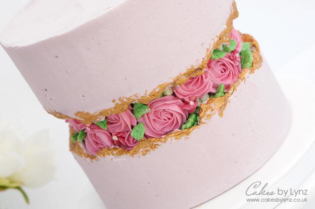Buttercream Flowers Fault Line Cake