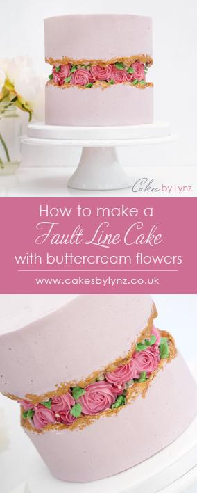Buttercream Fault Line Cake