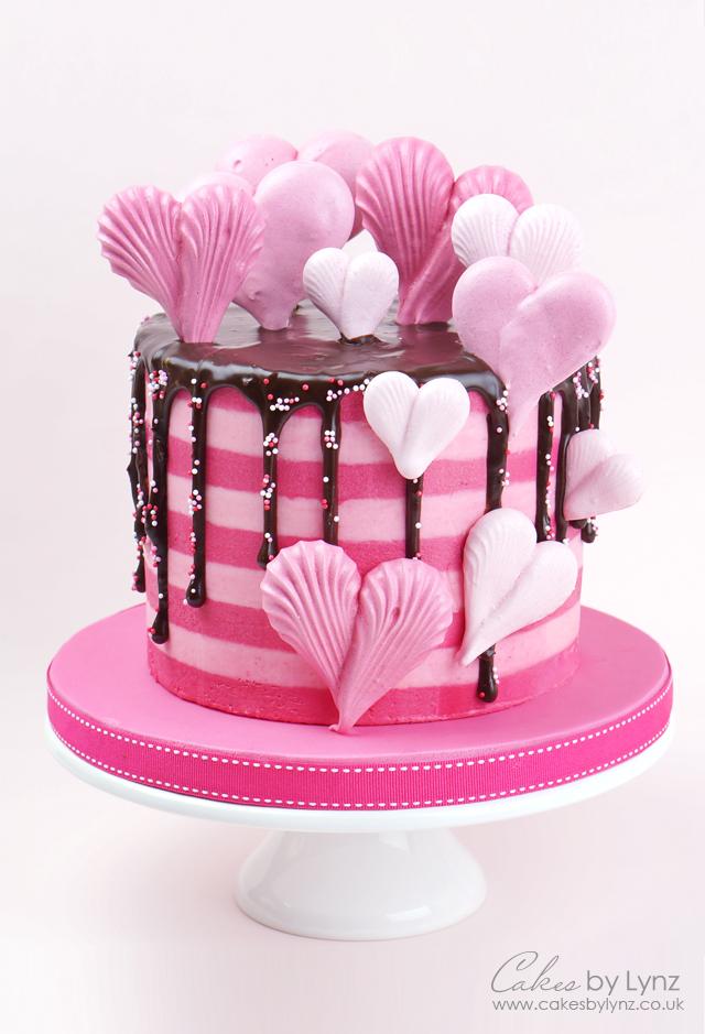 valentines Meringue Heart Cake