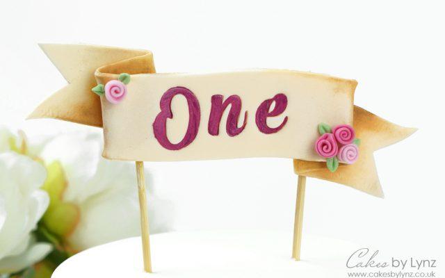 Ribbon banner cake topper tutorial