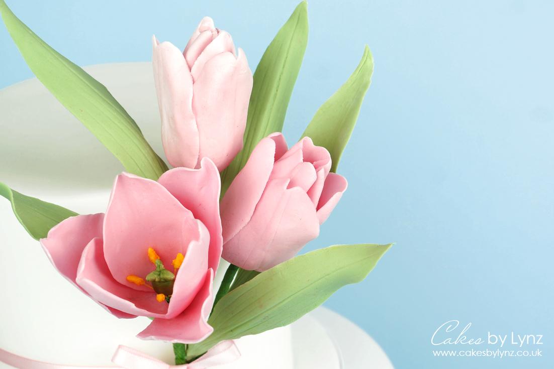 how to make a Gumpaste sugar tulip tutorial