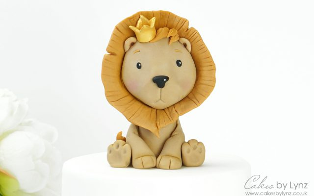 Cute lion Cake topper Tutorial