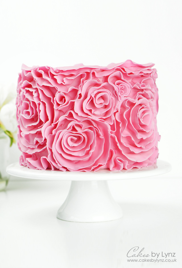 how to add Ruffle Rosette Cake tutorial
