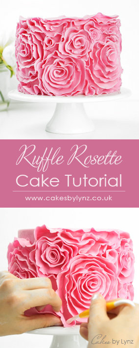 Ruffle Rosette cake Tutorial