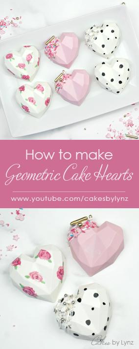 how to make 3D Geometric Cake Heart cakesicles