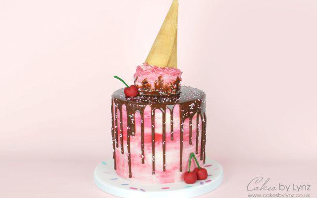 melted ice cream buttercream cake tutorial